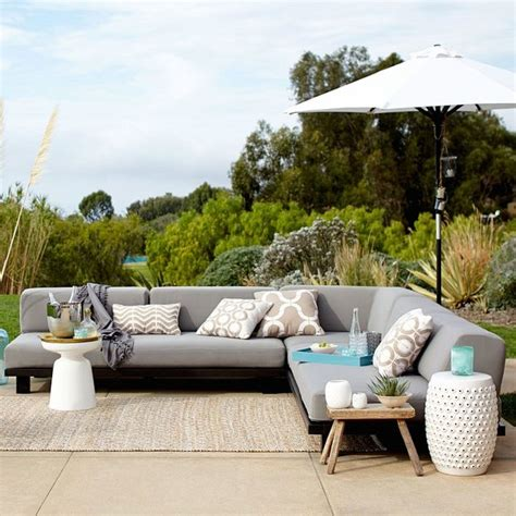 west elm tillary outdoor sofa tillary outdoor modular seating set 1 contemporary