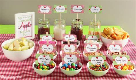 caramel apple bar toppings apple party ideas