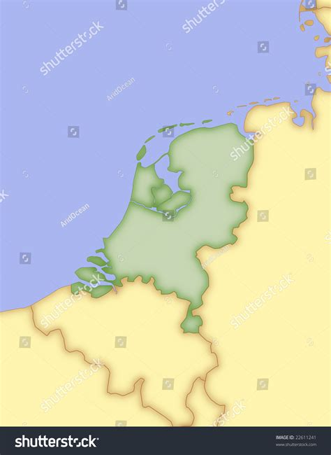 netherlands borders map map of netherlands with borders of surrounding countries