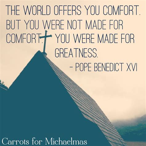 you comfort you were not made for comfort