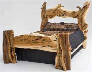 Log Wood Bed Frames Rustic Furniture Building