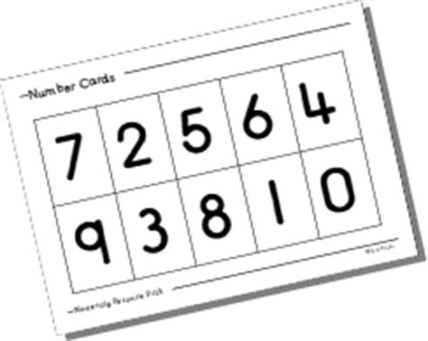 printable number cards 0 to 9 0 to 9 number cards