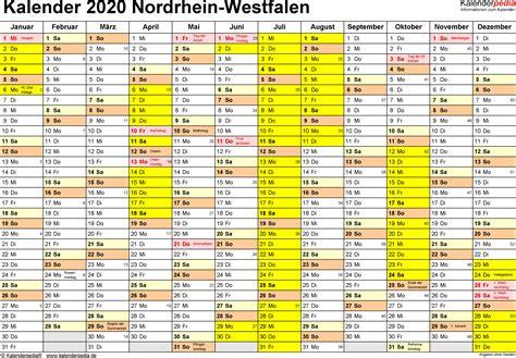 Kalender 2021 Nrw Ferien Nordrhein Westfalen Nrw 2020 220 Bersicht Der