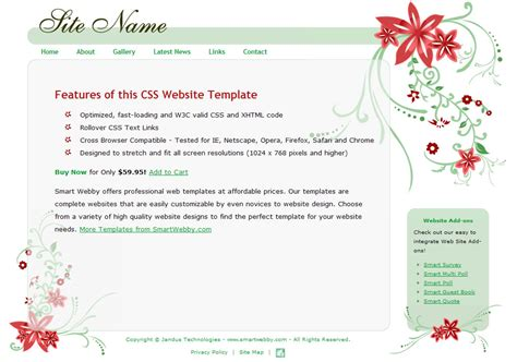 cool dreamweaver templates soothing cool template