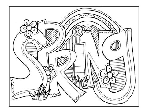 coloring book pages pinterest springtime coloring pages pinterest