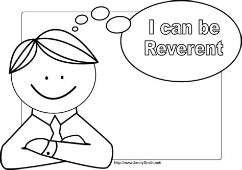lds coloring pages i can be a good exle mormon share i can be reverent poster 3