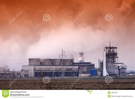 Smoke Comes Out Of Fireplace by Smoke Coming Out Of Factory Chimney Royalty Free Stock