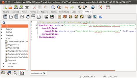 epub format xml chapter editeurs texte et xml cr 233 er un epub