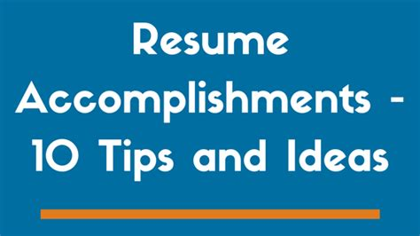 Themes Of Education And Accomplishment In Pride And Prejudice | 10 resume accomplishments to get you noticed exles