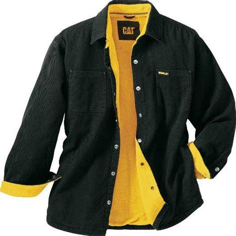 caterpillar cat cotton twill fleece lined shirt jacket ebay