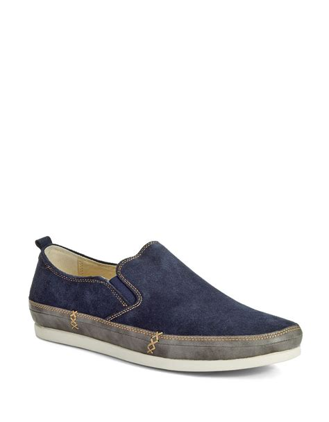 kenneth cole reaction coil suede slip on shoes in blue