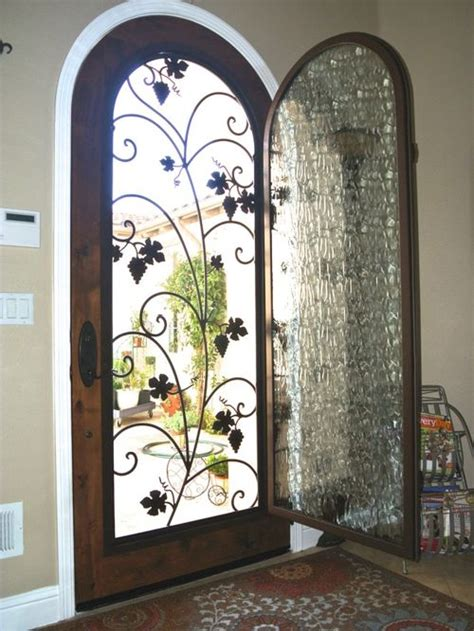 Leaded Glass Front Door Inserts Before After Wrought Iron Beveled Glass Door Inserts