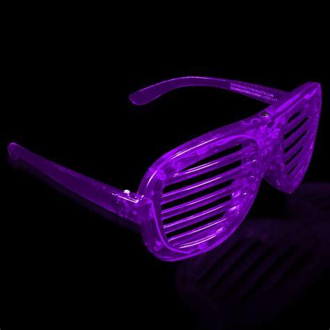 led lights for glasses light up slotted shutter shade glasses sunglasses