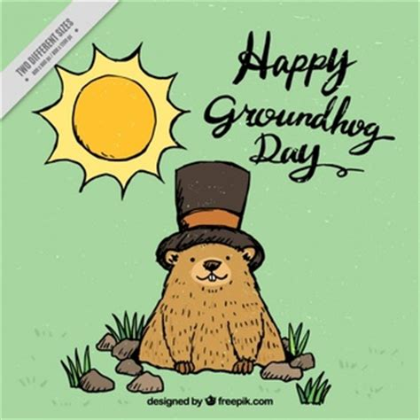 groundhog day kickass groundhog day background vector free