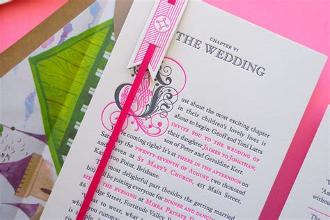 Storybook Wedding Invitations best of 2011 neon storybook wedding invitations