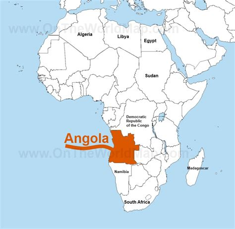 africa map angola landforms in africa angola images