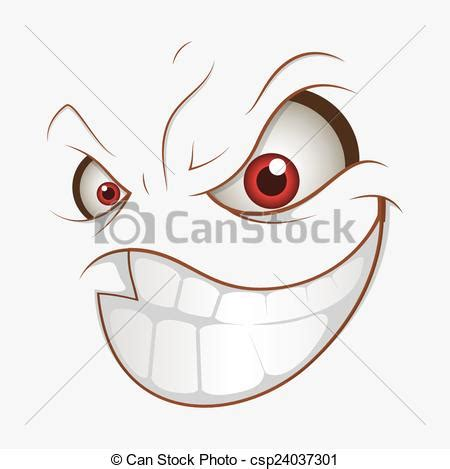 expression cartoons illustrations vector stock images bad cartoon evil smile expression naughty cartoon face