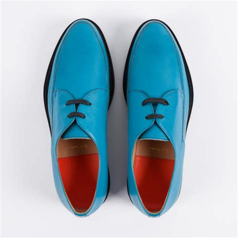 paul smith s turquoise buffalino leather nico shoes