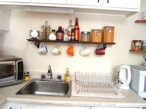 Mug Shelf Kitchen by Color Me Domestic Kitchen Mug Shelf