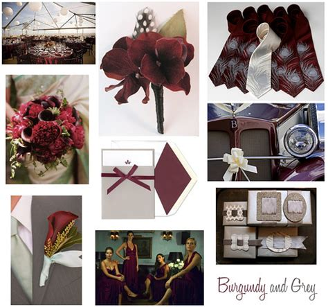 wedding wednesday burgundy maroon grey and silver flickr