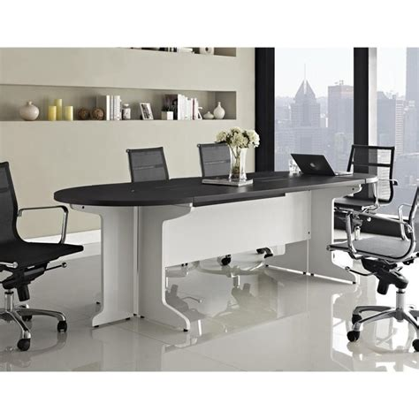 Grey Meeting Table Conference Table White And In Gray 9350296