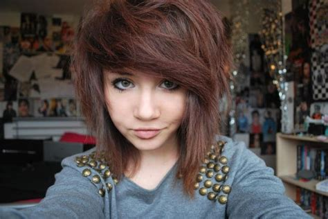 short and medium haircuts on ordinary people short medium scene hairstyles fashionista pinterest