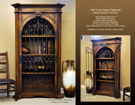Tuscan Style Dining Room Furniture old world dining room furniture tall iron door cabinet