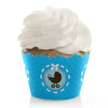 Walmart Baby Shower Cupcakes by Boy Baby Carriage Baby Shower Cupcake Wrappers Set Of