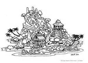 Island Coloring Pages 11 As A Large Black sketch template