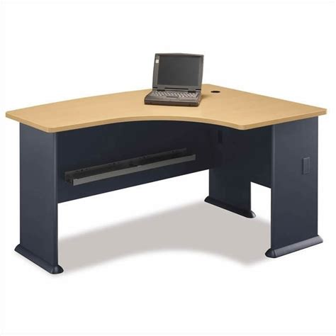 Bush Bbf Series A 5 Piece Right Hand Corner Desk Set In Beech Corner Desk