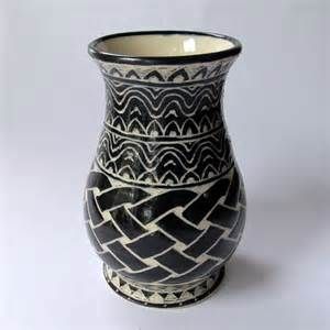 Vase Patterns Hand Crafted Handmade Stoneware Vase With Celtic Knot And