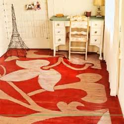 floor painting ideas flower painted floor readers clever upgrade ideas that