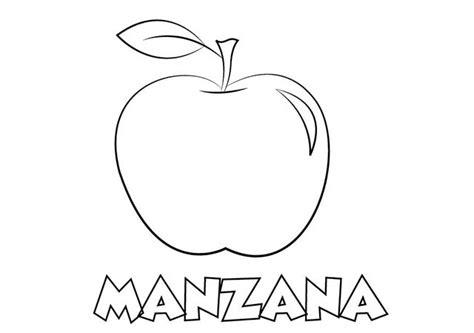 dibujo de libros y manzana para colorear dibujos net colorear fruta colorear e imprimir