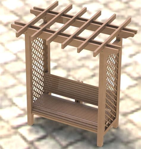 garden arbor trellis  bench woodworking plans easy