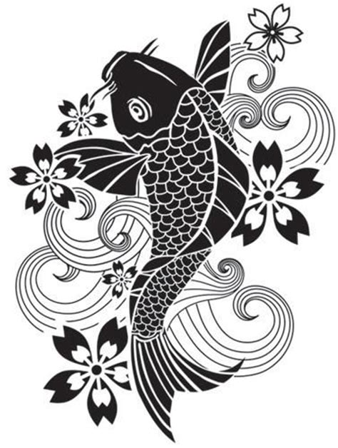 free koi carp tattoo designs koi discount designer and stencils on