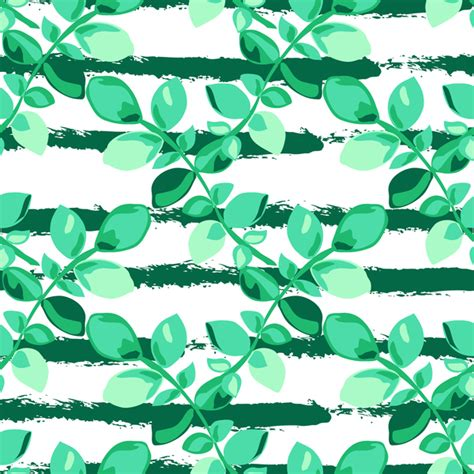 branch name pattern means tree branches with leaves seamless pattern vector 05