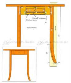 drawer side table plans woodarchivist