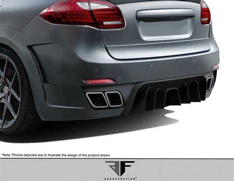 porsche widebody rear 2011 2014 porsche cayenne af 4 wide body rear bumper gfk