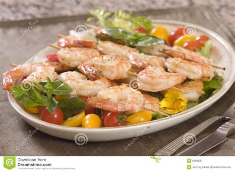Lunch Animals Skewer shrimp on a skewer royalty free stock photography image