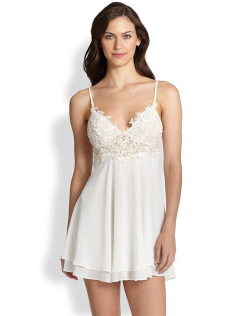 Layer Flower Blouse Sabrina Fashion Bagus Murah jonquil sabrina layer chemise in white lyst