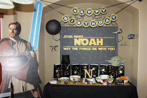 Kitchen Backdrop star wars birthday party candy buffet ideas little