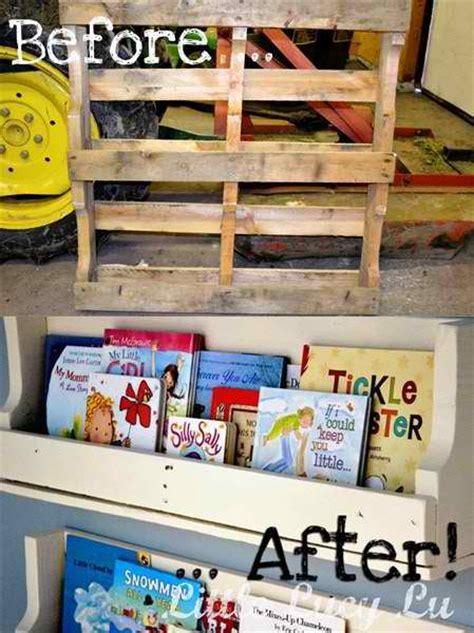 from pallet to amazing bookshelf
