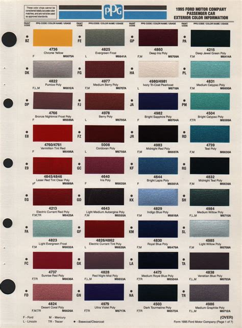 ford exterior paint colors ford exterior paint codes