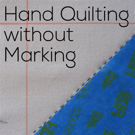 How To Quilt Without A Frame by Quilting Without Marking Tutorial Shiny