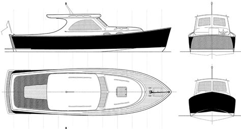 lobster boat layout 26 planing lobster boat