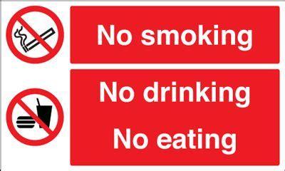 no smoking signs wales no smoking no drinking no eating safety sign landscape