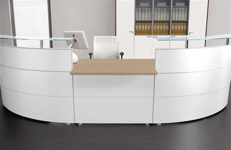 White Curved Reception Desk White Curved Reception Desk Brilliance White High Gloss Curved Reception Desk Single Module