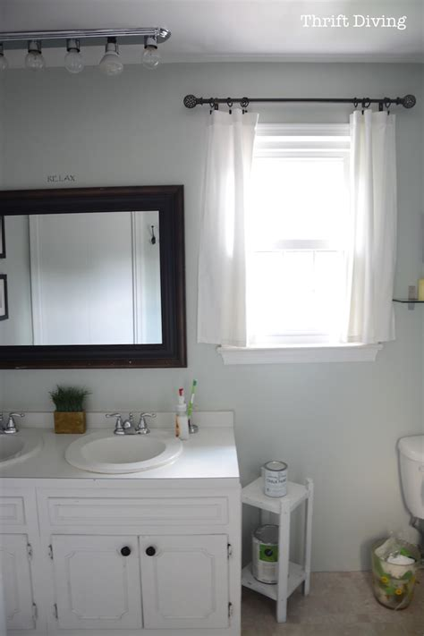 How To Paint Bathroom Vanity Before After My Pretty Painted Bathroom Vanity