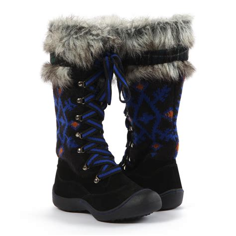 tribal pattern winter boots muk luks 174 women s 13 quot black gwen tribal motif snow boot