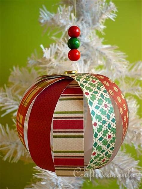christmas ornament craft ideas paper crafts for create a delicate tree ornament